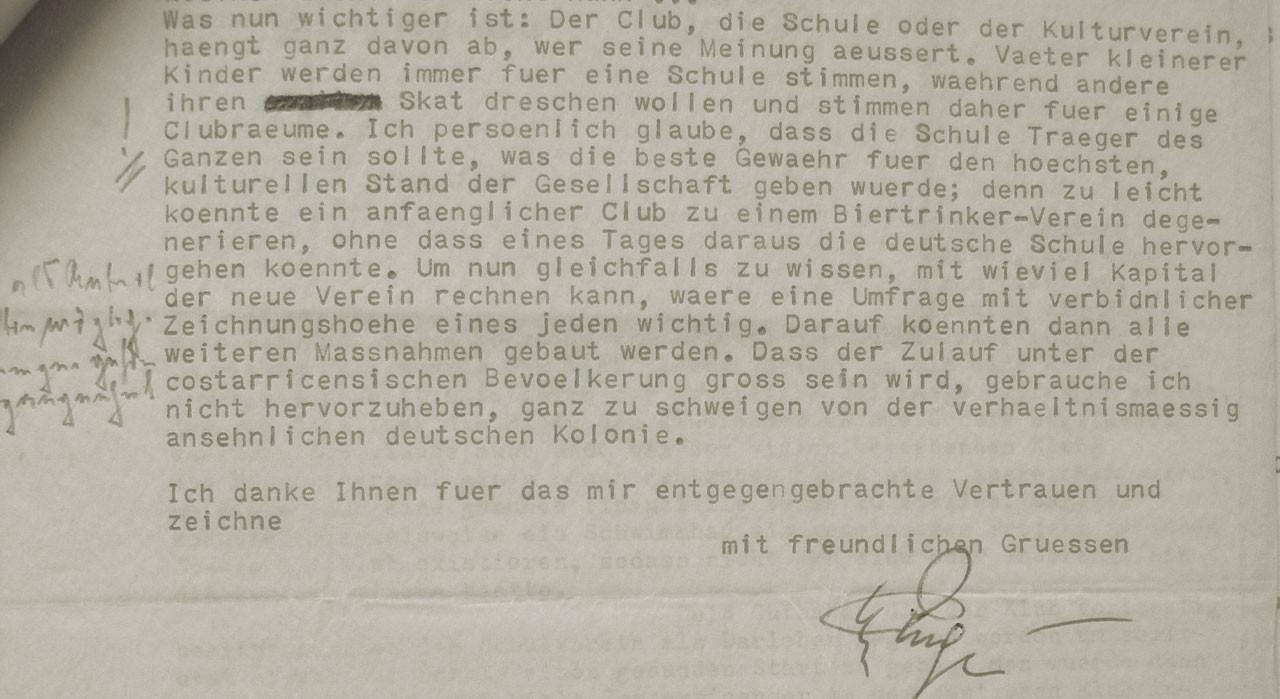 Fig. 10: Extracto de la carta de Helmut Ruge
