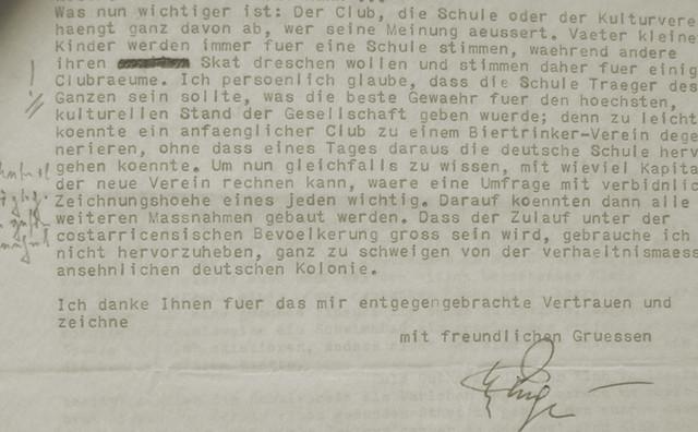 Abb. 10: Auszug aus dem Schreiben von Helmut Ruge