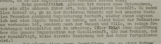 Abb. 8: Ausschnitt aus dem Schreiben von Richard Steinvorth