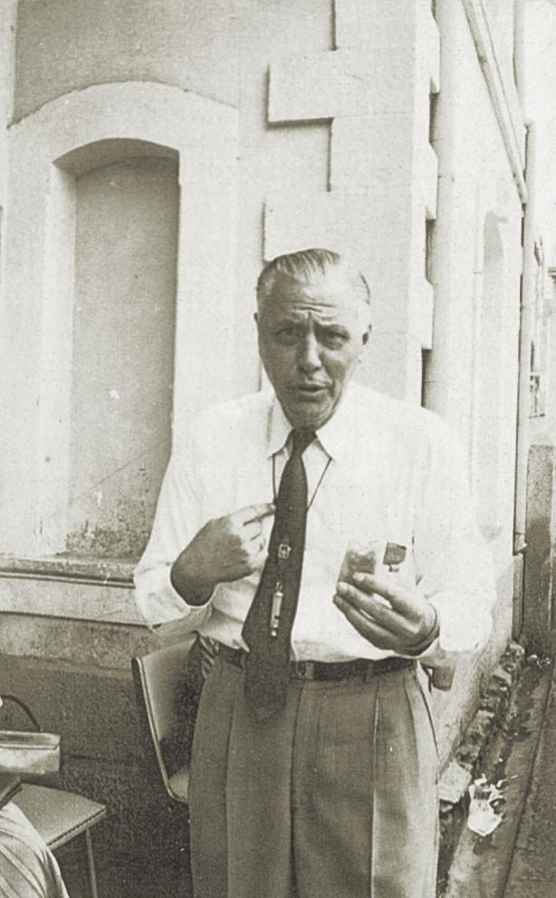 Fig. 6: Director Hannes Ihrig en el año 1960