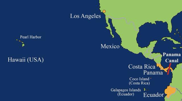Abb. 8: Karte von Zentralamerika mit Panama-Kanal
