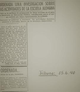 "Abb. 2: ""La Tribuna"" vom 15.6.1940"