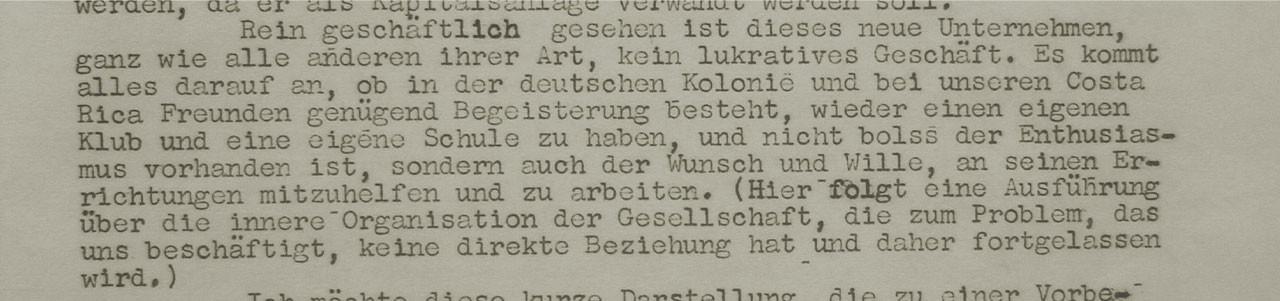 Abb. 9: Auszug aus dem Schreiben von Helmut Ruge