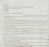 Abb. 4a: Antwortschreiben von Hannes Ihrig an den Schulinspektor vom 21.6.1940