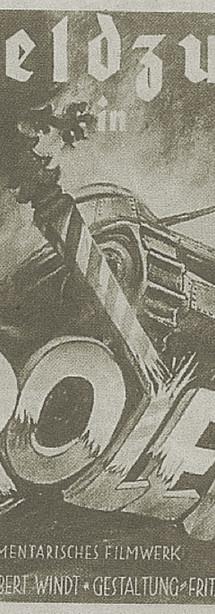 """Abb. 6: Filmplakat des Propagandafilms """"Der Feldzug in Polen"""" (1940) von Fritz Hippler mit Filmmaterial von Leni Riefenstahl"""