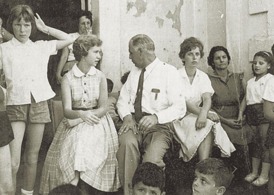"""Abb. 7: Hannes Ihrig mit seiner Sekretärin """"Dita"""" im Jahr 1960"""