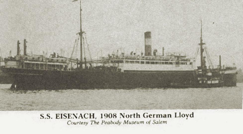 """Fig. 1: El buque ,,Eisenach"""""""