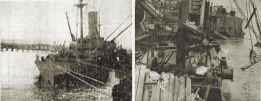 """Fig. 8: El ,,SS San Pablo""""  en el puerto de Limón"""