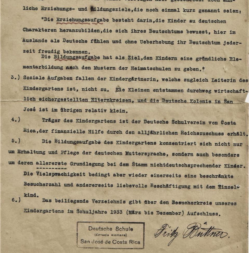 Abb. 3: Ausschnitt eines Schreibens von Fritz Büttner an das Deutsche Archiv für Jugendwohlfahrt vom 29.4.1933