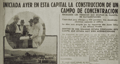 """Abb. 4: Zeitungsartikel über die Errichtung eines Internierungslagers in """"La Tribuna"""" von 1941"""