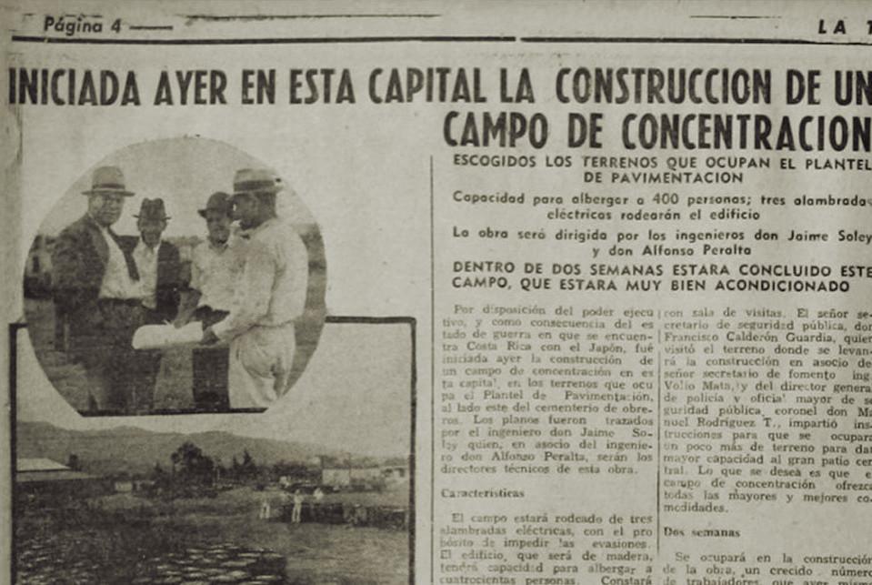 """Fig. 4: Artículo del periódico """"La Tribuna"""" de 1941 sobre la instalación de un campo de internamiento"""