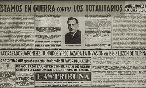 """Abb. 3: Zeitungsartikel über die Kriegserklärung in """"La Tribuna"""" vom 12.12.1941"""