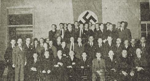 """Abb. 4: Zeitungsartikel über die Feier anlässlich des Geburtstags von Adolf Hitler im Deutschen Club in """"La Tribuna"""" vom 22.4.1936, S. 3"""