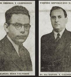 Abb. 10: Manuel Mora Valverde und Rafael Ángel Calderón Guardia