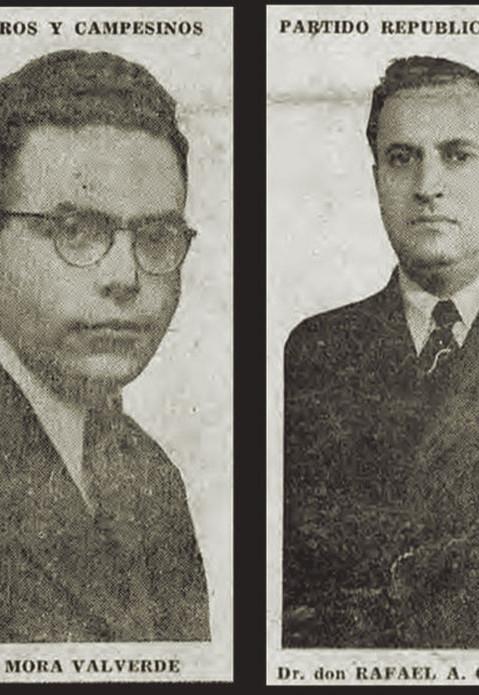 Fig. 10: Manuel Mora Valverde y Rafael Ángel Calderón Guardia