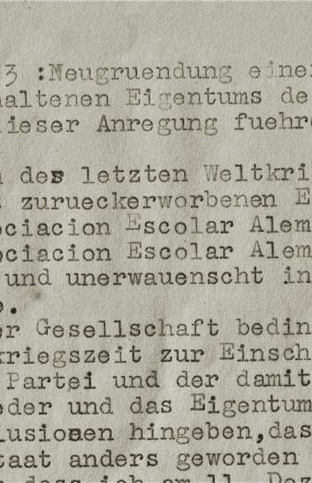 Abb. 1: Auszug eines Schreibens vom Juni 1955. Der Verfasser ist unbekannt
