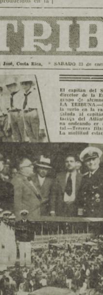 """Abb. 3: Zeitungsartikel über dem Empfang der """"SMS Schleswig-Hostein"""" in """"La Tribuna"""" vom 23.1.1937"""