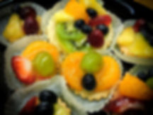 Fruit Tarts are a beautiful and delicious dessert for your Coastal Empire event or gathering.