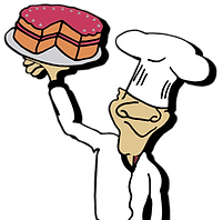 Like our cake man logo, Baker's Pride does everything hand made!