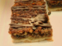 Baker's Pride's variety of bars include brownies, blondies, and, even, our chocolate bourbon pecan bars.