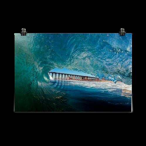 Rosarito Beach Pier - Photo paper poster
