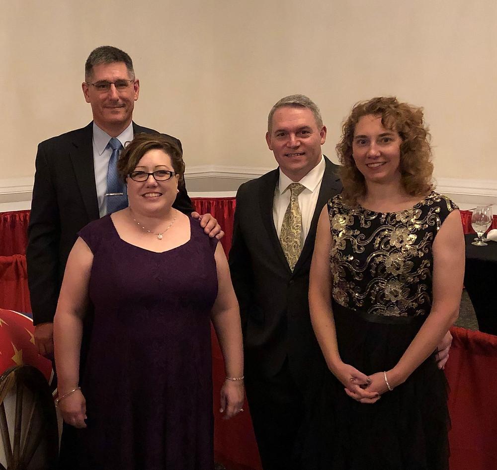 From left to right: From left to right: Scott Uchytil, Kathy Uchytil, Doug Keller, Lisa Keller