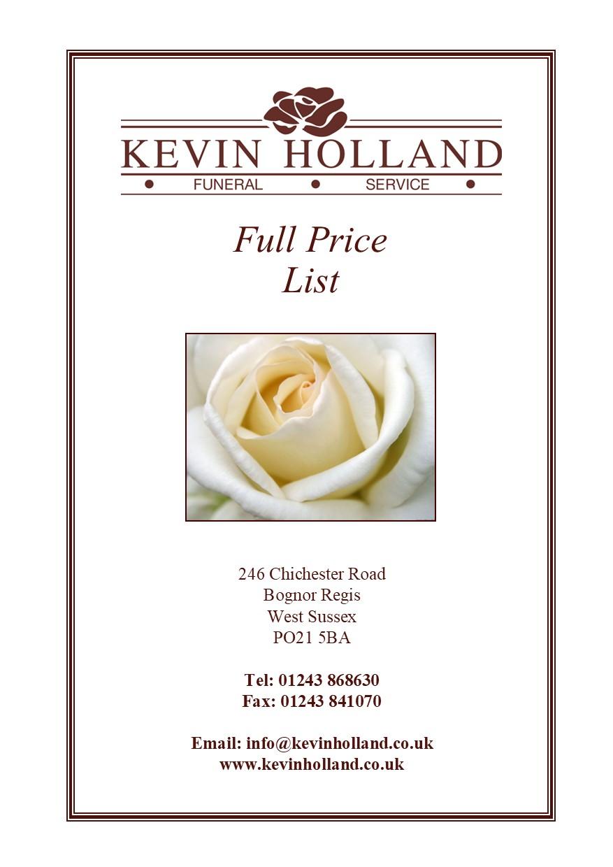 Price cover