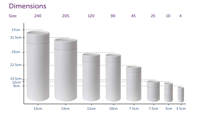 tube dimensions