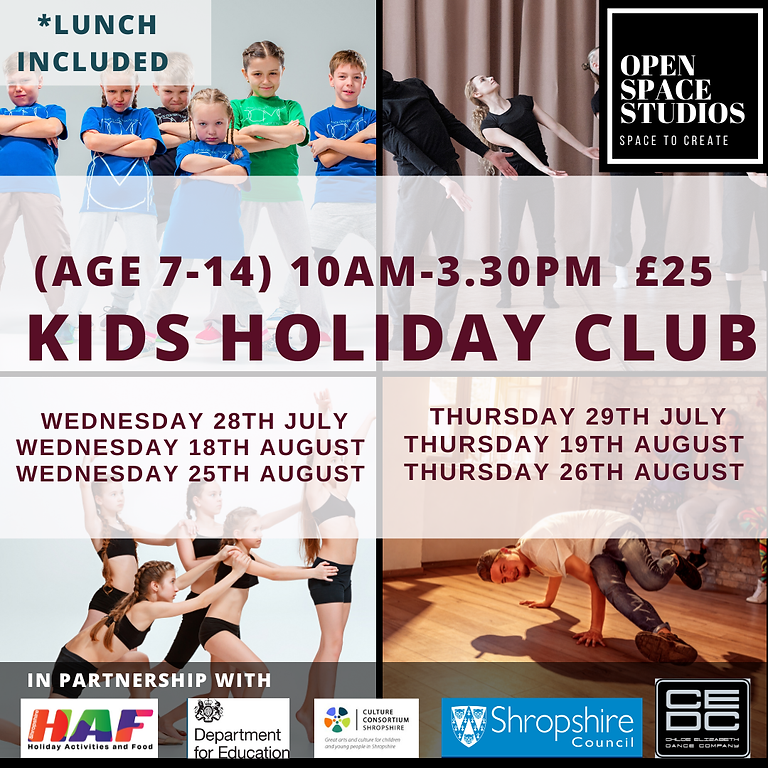 KIDS SUMMER DANCE CAMPS (7-14 years)