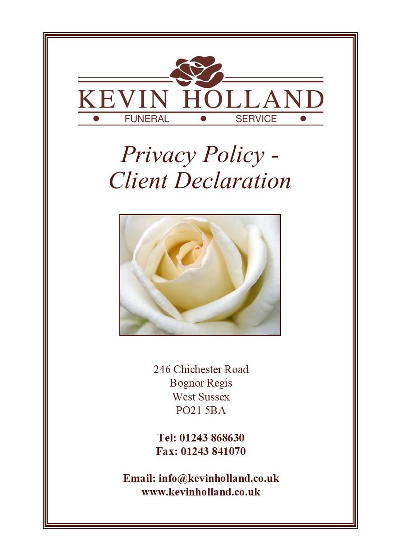 Privacy - client declaration