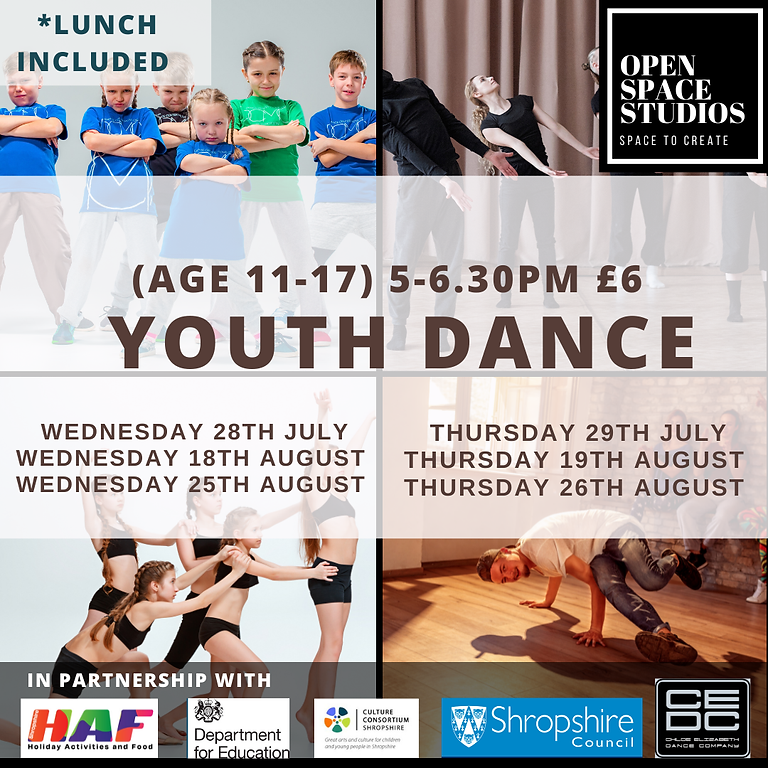 YOUTH DANCE CLASSES (11-18 YEARS)