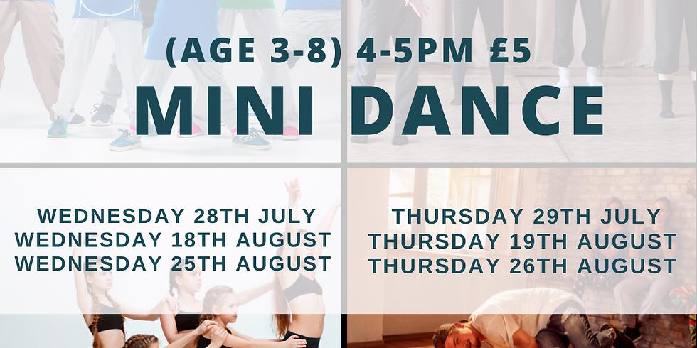 MINI DANCE CLASSES (3-8 YEARS)
