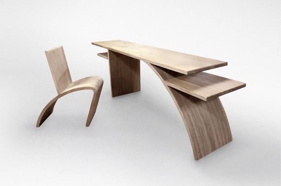 Bridge Desk and Chair
