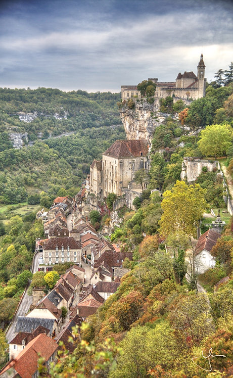 Cliffside of Rocamadour (Sml Canvas)