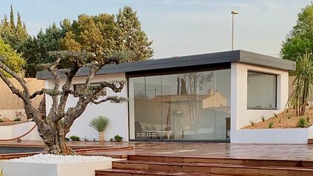 cottage system extension toit plat