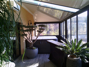 Véranda toiture mixte puit de lumière