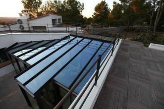 véranda toiture vitrée après