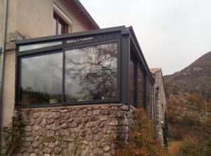 véranda toiture mixteterrasse couverte