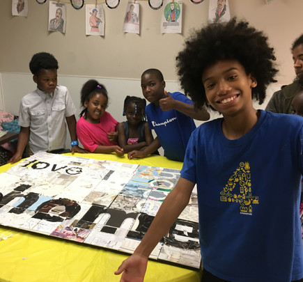 Collage making with the Atlanta Collage Society