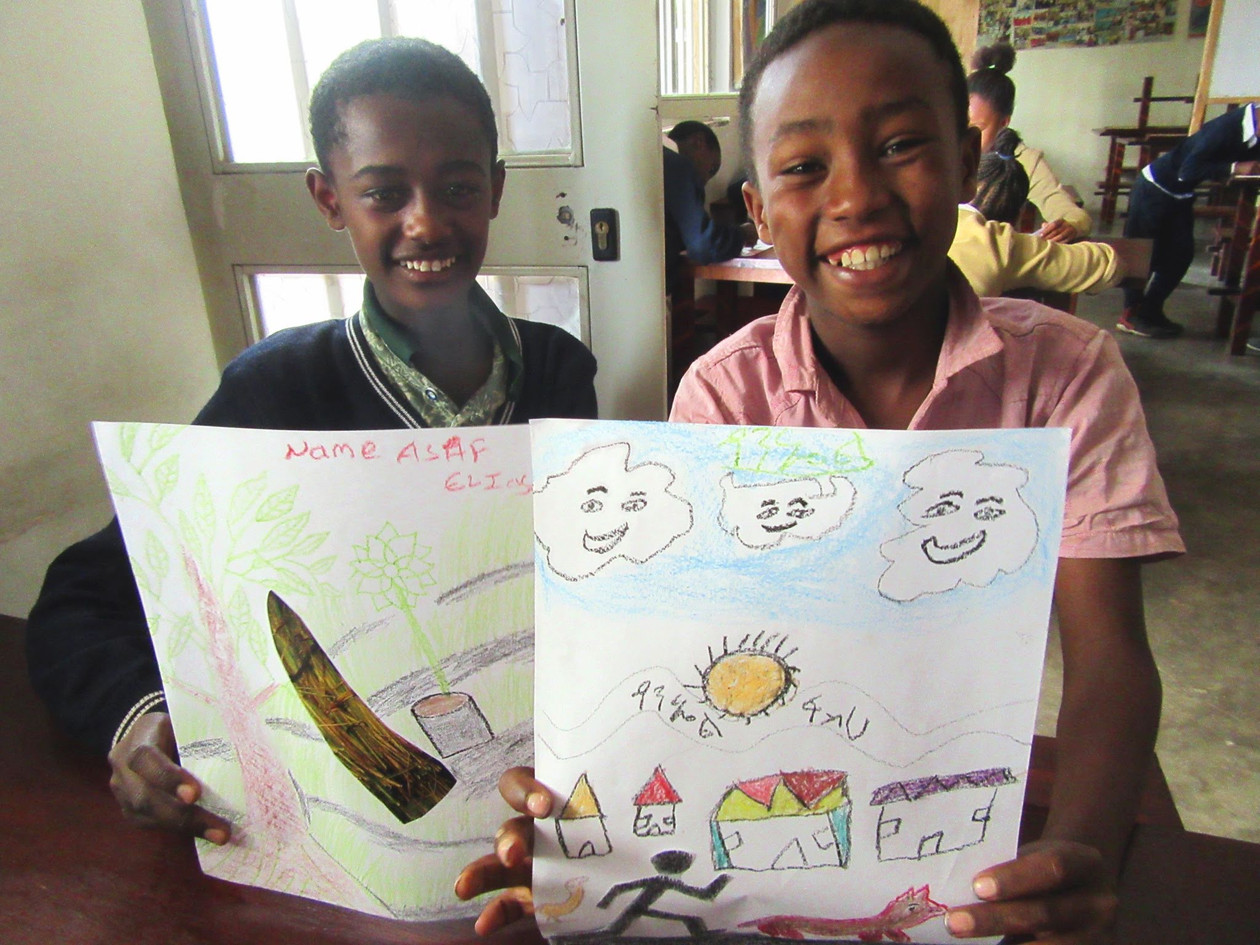 Friendships are created while making art-Art Beyond Borders, Ethiopia