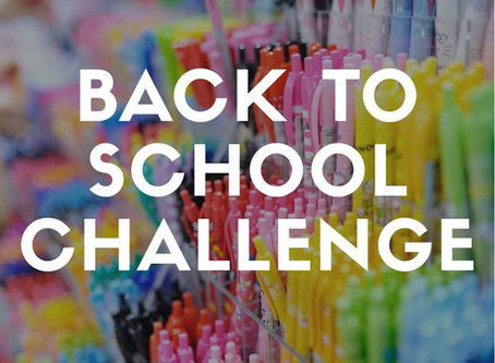 Back to School: 1-2-3 Challenge