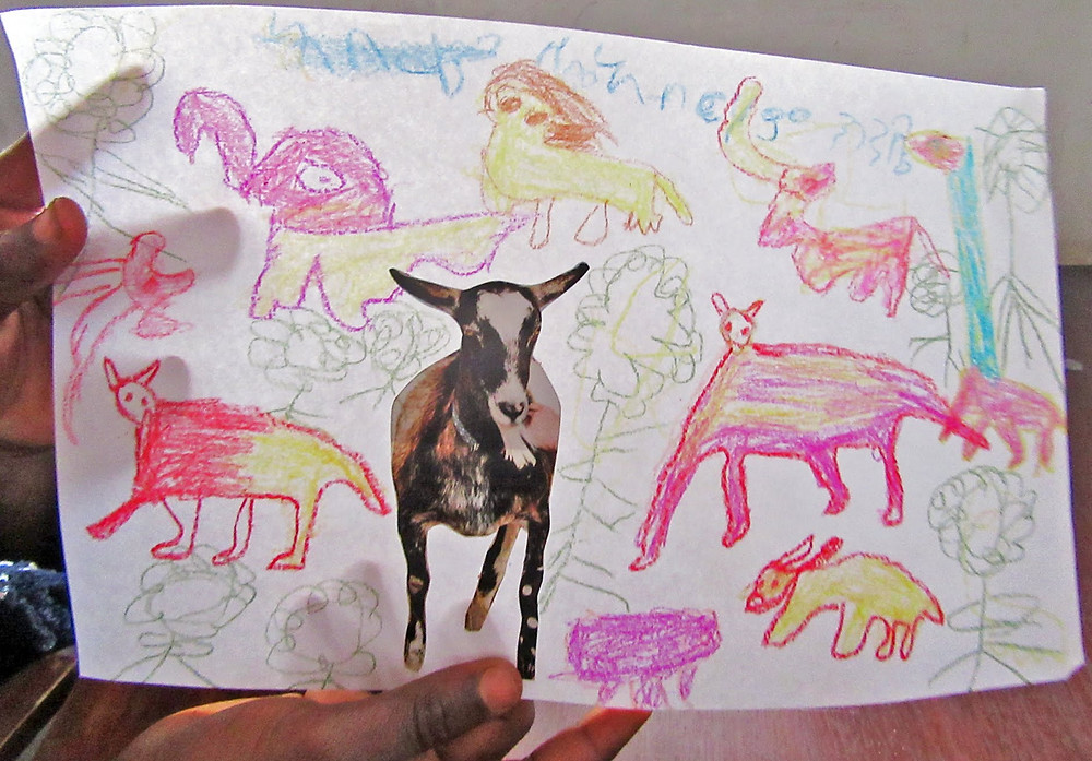 "Artist exclaimed, ""My goat cannot be alone so I'm going to give it an entire animal family!"""