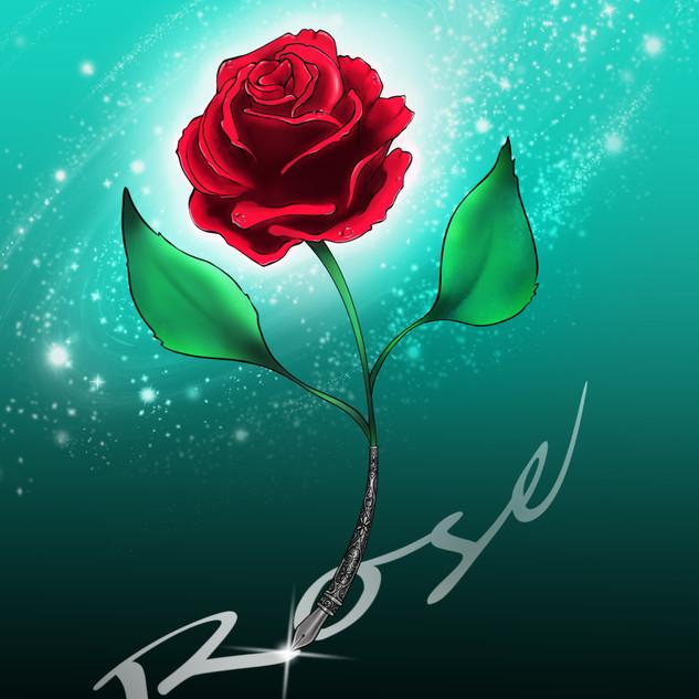 Rose_Schreibfeder