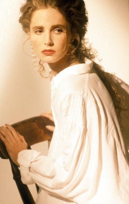 Model posing for Harlequin book cover