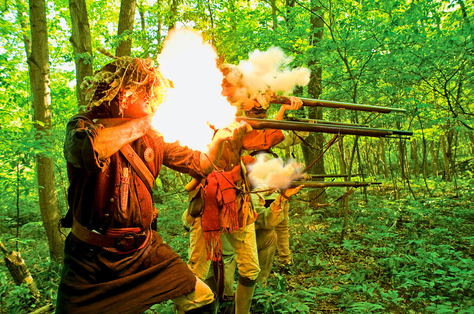 Muskets being fired
