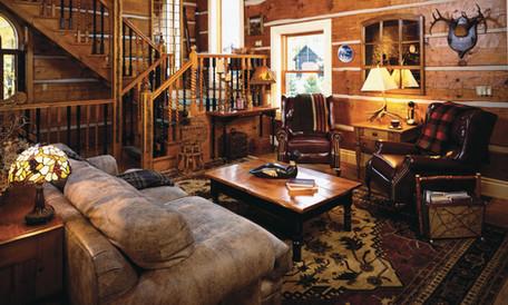 Log cabin family room