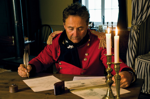 General Brock writing