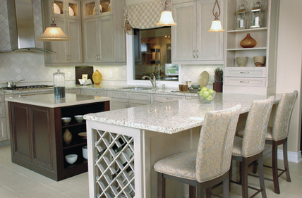 Kitchen in a home