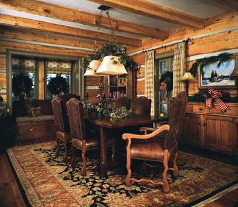 Log cabin dinner table