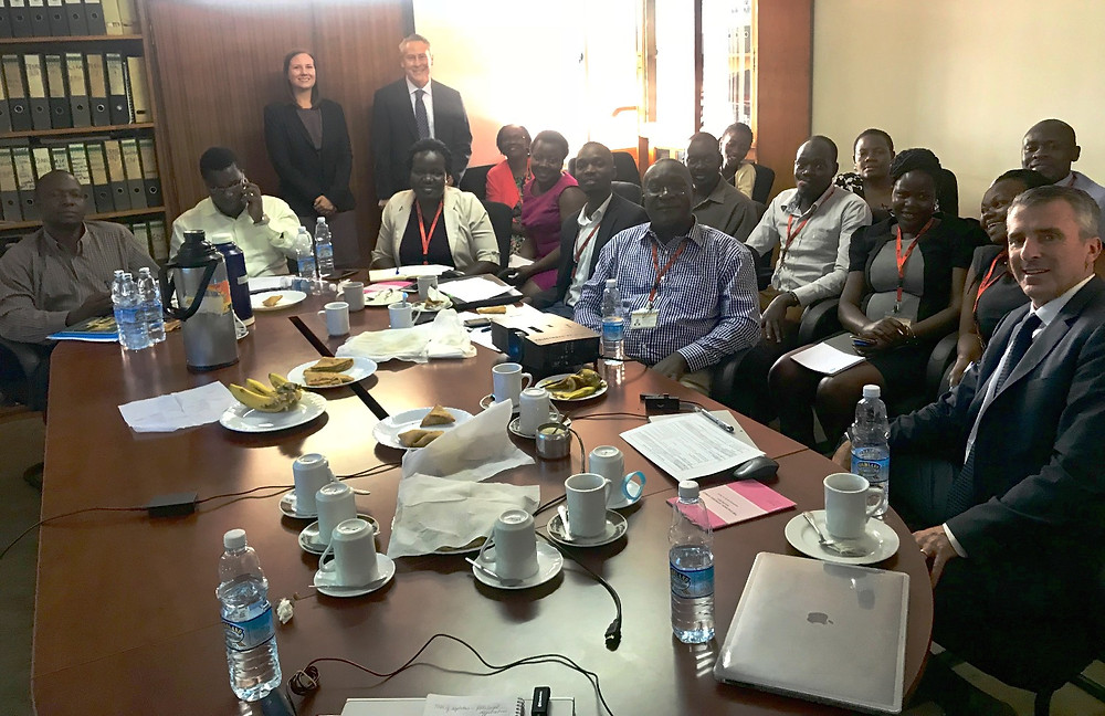 Uganda Child Welfare Ministry with the Both Ends Believing team in Kampala, Uganda